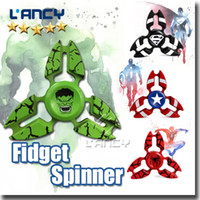 Spider Superman Pas Cher-Le plus récent Spider Man Superman Captain America Fidget Spinner à main Stress Spinner en alliage Roulement à billes en métal pour ADD ADHD Anxiety With Retail Box