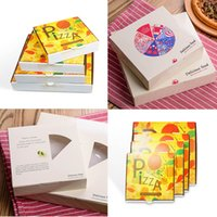 Wholesale Paper Box Pizza - customized good Food packaging boxes High quality pizza wrapping paper pastry boxes Party supplies 2 styles