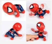 brinquedos sucker carro venda por atacado-16 CM figura de ação Homem Aranha Escalada Spiderman Janela Otário para Homem-Aranha Boneca de Brinquedo Casa Decoração de Interiores Para As Crianças