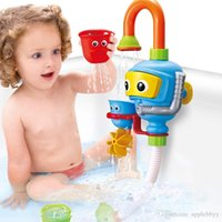 Wholesale Play Press - Baby Bath Toys Multicolor Favorite Play Taps Plastic Buttressed Spray Shower Gifts Kids Water Wheel Manually Press the Water Outlet Design