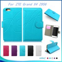 Wholesale Cover Zte Grand X - Wallet case For ZTE Grand X4 Z956 Grand X Max 2 Z988 Z963U Kirk High quality Leather pouch cover inside credit card Slots
