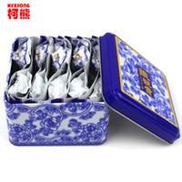Wholesale Luzhou Flavor Tieguanyin - C-WL039 oolong tea 10pcs  box China anxi tieguanyin tie guan yin luzhou-flavor tieguanyin tea premium with blue and white porcelain gift
