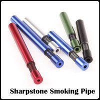 Wholesale Aluminium Piping - Spring Mouth Metal Smoking Pipe Aluminium Alloy 55mm 82mm Length 8mm diameter Tobacco Pipes Cigarette Smoking Pipes