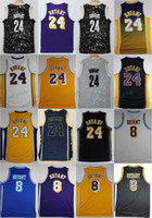 Wholesale Retro Shirts - Throwback Black Mamba Kobe Bryant Basketball Jerseys 24 Kobe Bryant Rookie No.8 Retro Stitched Basketball Shirt MPLS MENS Cheap Jersey S-XXL