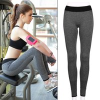 Wholesale Athletic Clothes For Women - Women Sport Tights Pants For Running Fitness Gym Clothes Quick Drying Trousers Elastic Capris Yoga Gym Athletic Sports Leggings