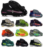 Wholesale Cr7 Cleat Box - with BOX Children Soccer Shoes Kids Soccer Cleats CR7 Cristiano Ronaldo Men Mercurial Superfly FG TF High Top Youth Boys Football Boots