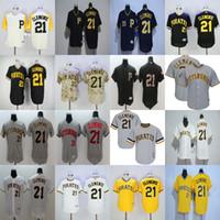Wholesale Cheap Ladies Shorts - 2017 Adults Lady Youth Pittsburgh Pirates 21 Roberto Clemente White Grey Black Yellow Camo Beige Cheap Cool Flex Base Baseball Jerseys