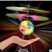 Wholesale Hot Rc - Xmas Gift Hot Toy Epoch Air RC Flying Ball Drone Helicopter Ball Built-in Shinning LED Lighting for Kids Teenagers Colorful Flyings