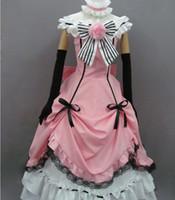 Wholesale Cosplay Costume Black Butler - Black Butler Kuroshitsuji Ciel Cosplay Costume Lolita Dress includes 7 accessories