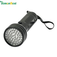 uv aa al por mayor-51 UV LED Escorpión Detector Hunter Finder Ultra Violeta Linterna Luz Negra Linterna Luz AA 395nm 5W
