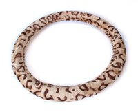 Wholesale Leopard Print Steering Wheel Covers - Car Vehicle Truck Automobile Universal Plush Leopard Print Steering Wheel Cover