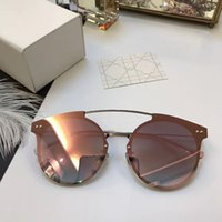 Wholesale Italian Designer Sunglasses - Luxury Brand Sunglasses Summer Style Coating Mirror Lens Women Sunglasses UV Protection Italian Designer Fashion Oval Designer Come With Box