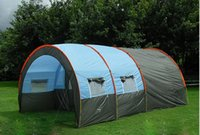 Wholesale Party Tents Ship Free - Outdoor 5-6-8-10 Persons Family Camping Hiking Party Large Tents 1 Hall 2 Room Waterproof Tunnel Tent Event Tents Beach Tent Free shipping