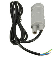 Wholesale Micro Aquarium Pump 12v - 2016 Salable 12V DC 1.2A 5M 14L Min 840L H 6-15V For solar Aquarium Three Core Micro Submersible Motor Water Pump Power Tools