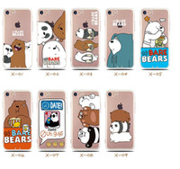 Wholesale Iphone Cute Case China - G073 New China Cute Panda Case For iPhone 7 Case Cartoon Animal Bear Capa Back Cover Soft TPU Phone Cases For iPhone7 6 6S Plus