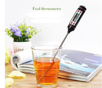Wholesale Wholesale Digital Meat Thermometer - Digital BBQ Thermometer Cooking Food Probe Meat Thermometer Kitchen Instant Digital Temperature Read Food Probe fast shipment Thermometers