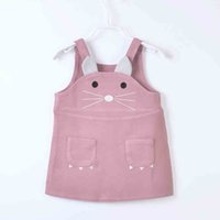 Wholesale Overall Dress Girl - Cute Girls Mouse Dress Girl Princess Baby Strap Skirt Overalls Sleeveless Autumn Spring Winter Vest Skirt 1-4T