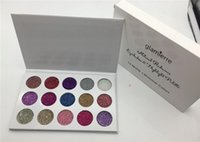 Wholesale Eye Shadow Pcs - Glamierre Unicorn Glitter palette eyeshadow 15 color set makeup Ultra Pigmented Glitter Shadows Shimmer eye shadow Palette cosmetics 1 pcs