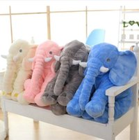 Wholesale Long Cushion Plush - Elephant Pillow INS Lumbar Pillows Long Nose Sleep Pillow Seat Cushion Elephant Dolls Baby Soft Plush Doll Toys Birthday Gifts 40cm B2942