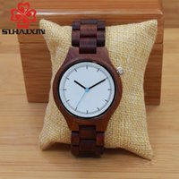 Wholesale Cheap Wholesale Designer Watches - SIHAIXIN Men Wrist Watch Natural Wood Clock All Black Watches with Wooden Band Vintage Man Quartz Watch Designer In Cheap Price