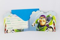 Wholesale Used Baby Toys - Wholesale- 12People Use Toy Story Theme Kid Boy Girl Baby Happy Birthday Party Decoration Kids Supplies Favors Invitation Cards