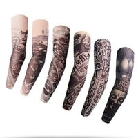 Wholesale Tattoo Models - TATTOO SLEEVES The flower arm sleeve tattoo Seamless summer sun protection Seamed riding thin absorb sweat high-elastic 200 models to pick