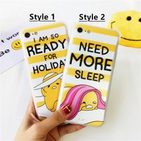 Wholesale Iphone Holiday Case - Couple Phone Case For iphone 6 6s 6plus 6splus 7 7plus Anti-Knock Holiday Sleep Pattern TPU+PC Case Cover For iphone7 Soft Cases