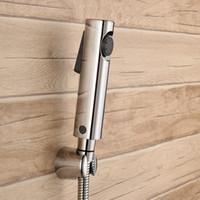 Wholesale Shower Jet Spray - Chrome ABS Sprayer hand held toilet bidet spray shattaf spray factory sale toilet shower jet set--H455