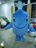 Wholesale Mascot Costumes For Sale - EN71 Deluxe EVA Adult Blue Whale Mascot Costume Blue Whale mascot costume Whale Mascot Costume Same as Pictured for sale