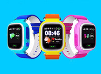 Wholesale apple positions - Factory Price New Colorful Touch Screen add WIFI Positioning Smart Watch SOS Call Location Locator GPS racker Kid Safe Anti Lost Monitor Q90