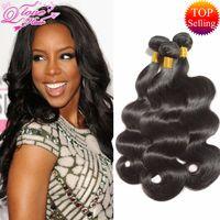 Wholesale Remy Wavy - Brazilian Body Wave 3 Bundles Queen Love Wet And Wavy Brazilian Virgin Hair Body Wave brazilian hair weave bundles Human Hair Peruvian Body