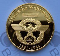 Wholesale Germany Coins - 10pcs lot CHALLENGE COIN FREE CAPSULE SHIPPING ERWIN ROMMEL DEUTSCHE WEHRMACHT GERMANY