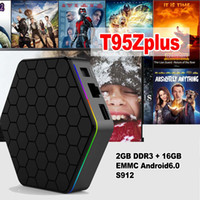 Wholesale Tv Wifi Bluetooth Hdmi - 10PCS T95Z PLUS Android 7.1 TV BOX Amlogic S912 Octa Core 2G 16G 2.4G 5G WiFi Bluetooth Media Player