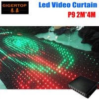 P9 2M * 4M PC Mode Controller LED Cortina de vídeo para casamento Backgrounddrop Custom Fireproof Light Curtain DJ Stage Background