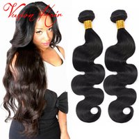 Wholesale Top Quality Remy Hair Styles - Top Quality Body Wave Remy Human Hair Weave 3 Pcs Lot Indian Remy Human Hair Prices Natural Black Human Hair Extensions Fashion Styles
