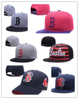 Wholesale Cheap Fitted Caps Free Shipping - Newest Cheap Wholesale MLB BOSTON RED SOX Hip Hop Snapback Baseball Caps Hats Unisex Sports Adjustable Bone Women Men Free Shipping
