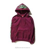 Wholesale mens v neck fleece - Top fashion kanye west men women street hoodies pullover mens Casual Hoodie Loose Fleece sweatshirt men hoody Hip hop rock style