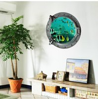 Wholesale Underwater Diy Decorations - 3d Small fish wall stickers Underwater World home decoration diy cartoon living room animals print decals mural art poster Toile