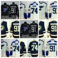 Wholesale Cool Hockey Jerseys - Free Custom St.Louis Blues Authentic Personalized Cool Base Jersey 91 Tarasenko 74 Oshie 17 Schwartz 42 Backes Blank Jerseys