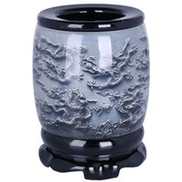 Wholesale Angels Pen - Crystal relief revolving pen holder, Chinese characteristic gift, abroad gift, creative home, study decorations
