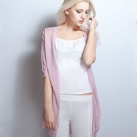 Wholesale Cardigan Out Wear - Wholesale-Women Summer Sun Protection clothing for driving Sunscreen linen Cardigan Casual Out Wear tops Medium style half Sleeves Shirt
