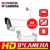 Wholesale Ptz Wireless Camera Indoor - HI3516C+SONY IMX323 Wireless HD 1080P 960P Bullet Wifi PTZ IP Camera 4X Zoom Auto Focus 2.8-12mm 2MP Outdoor IR Onvif CamHi View