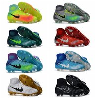 Wholesale Soft Red Leather Shoes - Men New Original soccer cleats 2017 soccer shoes boots soccer magista obra II fg soccer boot mens gold football boots black best quality