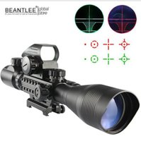 C4-12X50 Riflescope Einstellbare grüne rote Punkt Jagd Licht Taktische Bereich Reticle Optical Sight Scope mit 20mm / 11mm Schienen