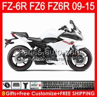 Wholesale fz6r fairings for sale - Group buy gloss white gifts For YAMAHA FZ6R FZ6N FZ6 NO157 FZ R FZ R white black Fairing