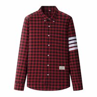 Wholesale Men Shirt Fabric - Mens Fashion Plaid Shirt Sanding Brushed Fabric Full Sleeve Dress Casual Shirts Men Camisa Social Masculina Chemise Homme