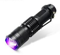 365nm taschenlampe großhandel-Heißer verkauf ultraviolette inspektion geld taschenlampe violettes licht 365nm fluoreszenzmittel erkennungslampe