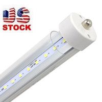 Wholesale Usa Pins - T8 FA8 Single Pin LED Tube Lights 8FT 40W 3500Lm SMD 2835 2400MM 8feet LED Fluorescent Tube Lighting Lamps 85-265V Stock at USA