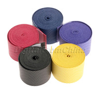 Wholesale Hot Rolling Cheap - Wholesale- New Hot Cheap Sweatband Anti-slip Absorb Sweat Racquet Over Grip Overgrip Roll Bat Outdoor Sports Squash Tape Bands Free Ship