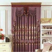 cortina de moda bordada de chenille de alta calidad cortinas diseo de moda